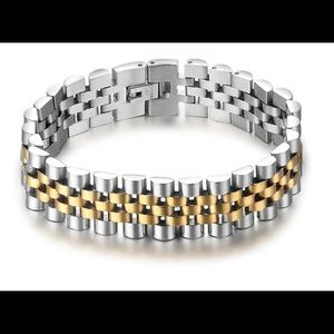 Other - Luxury Gold /Silver Color Stainless Steel Bracelet